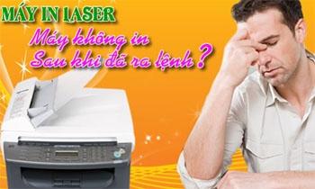 Máy in Laser không in sau khi đã thực hiện lệnh in